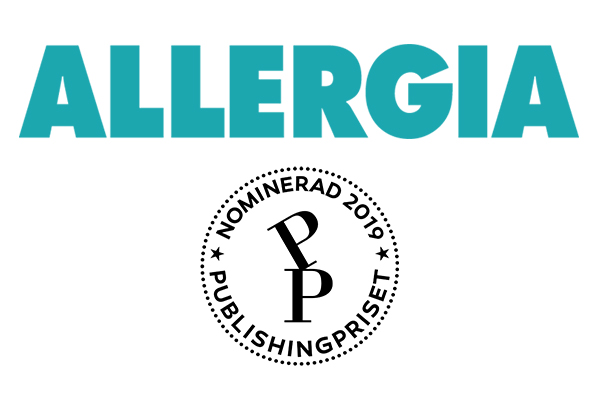 Allergia nominerad till publishingpriset