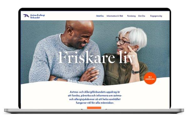 Startsida Astma- och Allergiförbundets webb